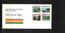 New Zealand 1986 Scenic Bays FDC - FDC