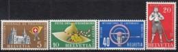 SCHWEIZ  607-610,  Postfrisch **, Jahresereignisse 1955 - Unused Stamps