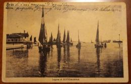 Laguna Di Sottomarina (Venezia, Chioggia) - Viaggiata - 1943 - Barca, Boat, Ship - Venezia