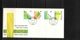 New Zealand 1987 Fibre Stamp Issue FDC - FDC