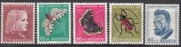 SCHWEIZ  588-592,  Postfrisch **, Pro Juventute 1953, Insekten - Pro Juventute