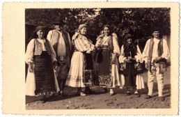 BANAT - COMUNA SECUSIGIU - ARAD : TYPES DU VILLAGE / COSTUMES - CARTE VRAIE PHOTO / REAL PHOTO POSTCARD ~ 1930 (ad320) - Roumanie