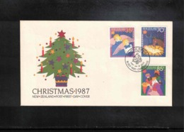 New Zealand 1987 Christmas FDC - FDC