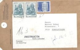 "Paketadresse  ""Instructa, Techn.Lehrmittel, Thal""            1982 - Switzerland"