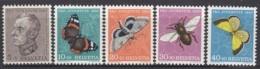 SCHWEIZ  550-554,  Postfrisch **, Pro Juventute 1950, Insekten - Pro Juventute