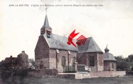 SARS LA BRUYERE - L'Eglise Et La Sacristie, Celle-ci Ancienne Chapelle Du Château Des Sars - Carte Colorée - Frameries