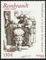 FRANCE 2006 Rembrandt Beggars Receiving Alms At The Door Of A House Paintings Art MNH - Rembrandt