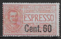 Italia Italy 1922 Regno Floreale Espresso Soprastampato C60 Sa N.E6 Nuovo MH * - 1900-44 Victor Emmanuel III.