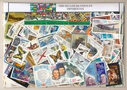 Paquete Sellos Mundiales  1000 Diferentes / Especial / Elegante Presentacion - Vrac (min 1000 Timbres)