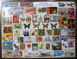 Paquete Sellos Mundiales  2000 Sellos Diferentes - Sellos