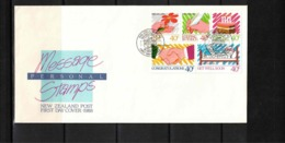 New Zealand 1988  Message Stamps FDC - FDC