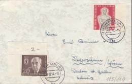 BERLIN 115, 119 MiF Auf Auslands-Brief, Mit Stempel: Hamburg 29.12.1954 - [5] Berlin