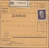 DR  422 EF, Auf Paketkarte Mit Stempel: Forchheim 12.SEP 1928 - Duitsland