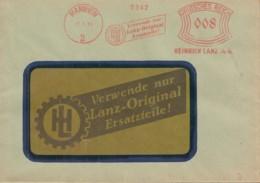 DR  FREISTEMPEL 008 (Pfg) Im Bogenrechteck Auf Brief Der Fa. Heinrich Lanz AG, Stempel: Mannheim 8.3.1935 - Germania