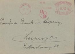 DR  FREISTEMPEL 012 (Pfg) Im Bogenrechteck Auf Briefstück Der Deutsch-asiatischen Bank, Stempel: Berlin NW7 8.9.1942 - Germania