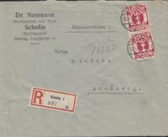 INFLA  DANZIG 96 MeF Geprüft, AufR-Brief Der Kanzlei Dr. Neumann Und Scholle Mit Stempel: Danzig 15.4.1922 - Dantzig