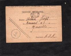 1941 - SERVICE MILITAIRE - Cachet MARSEILLE GARE Et Au Dos  Bureau De Recrutement De Marseille - Marcofilia (sobres)
