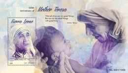 Sierra Leone 2015. [srl15608] Mother Teresa (s\s+bl) - Mother Teresa