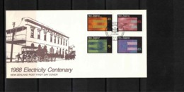 New Zealand 1988 Electricity Centenary FDC - FDC
