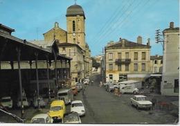 CPM -  47 Lot Garonne-Marmande - Le Vieux Marché (voitures Citroen 4 C Et Renault Dauphine Gordini ) - Passenger Cars