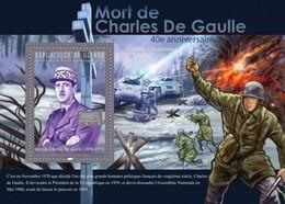 Guinea, 2010. [gu10315] Charles De Gaulle (s\s+block) - De Gaulle (General)