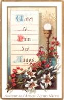 Souvenir De L'Abbaye Notre-Dame D'IGNY (Marne) - Voici Le Pain Des Anges TBE - Devotion Images