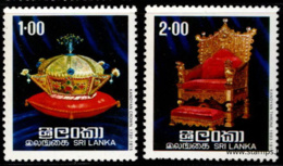Sri Lanka, Ceylon, Ceylan - 1977 SG 637/8 Ragalia Of The Kings Of Kandy (Crown And Throne) MNH - Sri Lanka (Ceylon) (1948-...)
