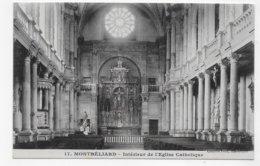 MONTBELIARD - N° 17 - INTERIEUR DE L' EGLISE CATHOLIQUE - CPA NON VOYAGEE - Montbéliard
