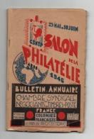 Bulletin-annuaire Chambre Syndicale Des Négociants En Timbre-poste France Colonies Françaises , Pays De Protectorat 1946 - Timbres