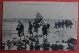 E BOUILLE  - RETOUR DE LA GRÉVE , Buguélès (Cotes Du Nord) - SALON 1910 - Femmes Pèche Métier - Paintings