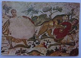 PIAZZA ARMERINA - Villa Romana Del Casale, Corridoio Della Grande Caccia - Particolare Mosaico, Mosaic - Vg S2 - Enna