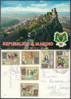 SAN MARINO - 1970 - Cartolina Viaggiata Affrancata Con Yvert 769/774 (6 Valori Con I Personaggi Dei Fumetti Disney). - San Marino