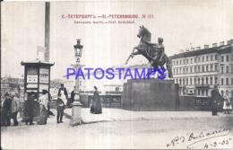 123842 RUSSIA ST PETERSBOURG BRIDGE ANITCHKOF CIRCULATED TO SPAIN POSTAL POSTCARD - Russland