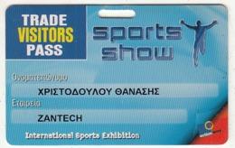 GREECE - International Sports Exhibition, Trade Visitors Pass, Used - Andere Sammlungen