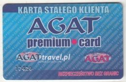 POLAND - AGAT Travel, Premium Member Card, Used - Andere Sammlungen