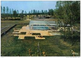Carte Postale 63. Billom  Partie De Volley-ball Au Camping Et La Piscine Trés Beau Plan - Francia