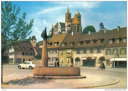 Carte Postale 68. Vieux-Brisach Fontaine Trés Beau Plan - Francia
