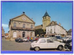 Carte Postale 15. Pleaux  La Poste  Place De L'hotel De Ville  Voitures Renault 4L Trés Beau Plan - Altri Comuni