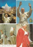 Religions - Christianisme - Culte De La Personnalité : 4 Cartes Du Pape Jean-Paul II. - Personnages Historiques