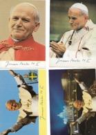 Religions - Christianisme - Culte De La Personnalité : 5 Cartes Du Pape Jean-Paul II. - Personnages Historiques