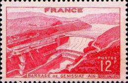 France Poste N** Yv: 817 Mi 830 Yv:1 Euro Barrage De Genissiat Ain - France