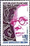 France Poste N** Yv:1822 Mi 1895 Yv:0,65 Euro Jean Giraudoux Ecrivain (Thème) - Schriftsteller