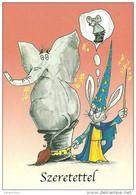 ANIMAL * ELEPHANT * MOUSE * RABBIT * BUNNY * CIRCUS * MAGICIAN * ILLUSIONIST * Csig Art A0079 * Hungary - Animaux & Faune