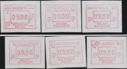 BELGIUM : 6 VIGNETTEN 9.00  BFR - Automatenmarken (ATM)
