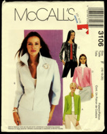 Vintage McCall`s Schnittmuster 3106  -  Gefütterte Damen-Jacken   -  Size F  -  16-20 - Designermode