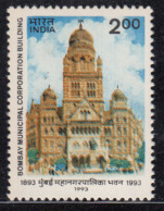 India MNH 1993, Greater Bombay Municipal Corporation, Architeture Monument, Car, - India