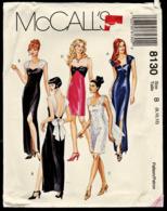 Vintage McCall`s Schnittmuster 8130  -  Damen-Abendkleid In 2 Längen  -  Size B  -  Größe 8-12 - Designermode