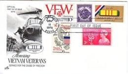 U.S.  VIETNAM  VETERANS  FDC - 1971-1980
