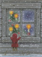 Brownie - Gnome - Elf Looking Inside The Window - Eva Melhuish - Navidad