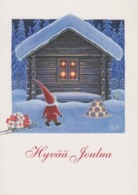 Brownie - Gnome - Elf Bringing A Christmas Presents On Snow Sled To A House - Eva Melhuish - Kerstmis